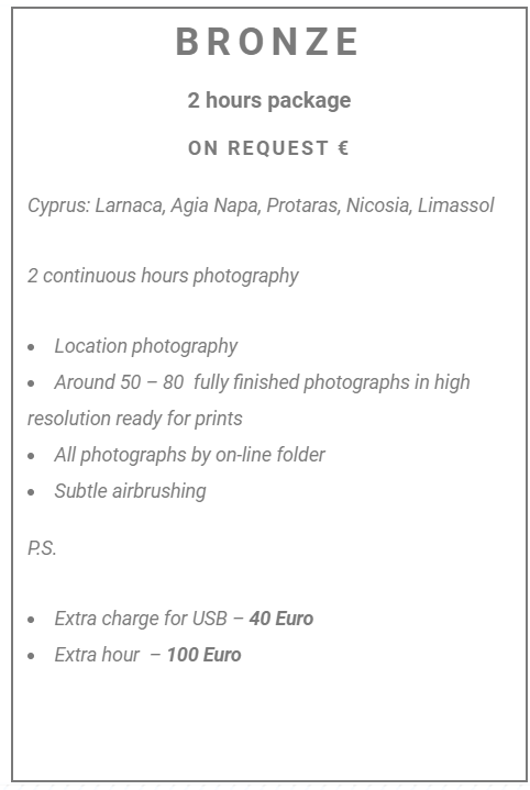 photographer in cyprus prices